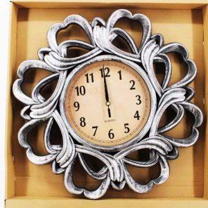 Стенен часовник с бронзов и меден ефект 50 см.