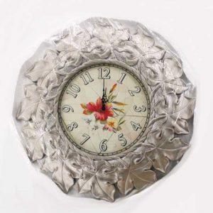 Стенен часовник 58 см. / сребрист/