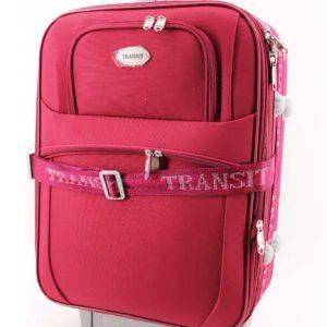 """Текстилен Куфар """" Transit """" в червено 53 см."""