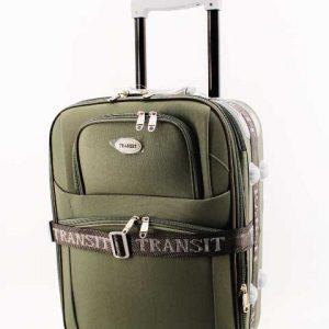 """Текстилен Куфар """" Transit """" в зелено 53 см."""