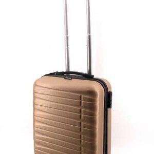Куфар PVC 50 см. със златист блясък