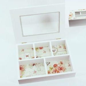 Кутия за Чай с цветя