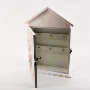"""Кутия за ключове """"Къщичка"""" във винтидж стил"""