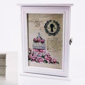 Кутия за ключове с рози във винтидж стил