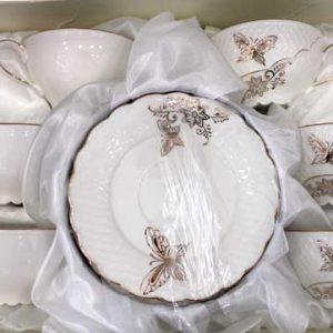 Сервиз за Чай/Кафе с нежни пеперуди