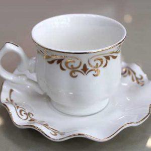 Комплект Кафе/Чай с къдрави чинийки