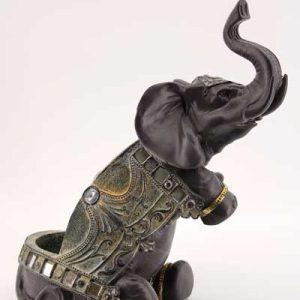 Поставка за бутилка-Слон с камъни