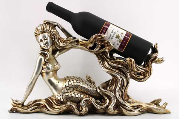 Поставка за бутилка-Легнала русалка