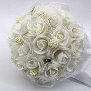 Сватбен букет с перли
