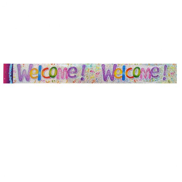 Надпис лента Welcome