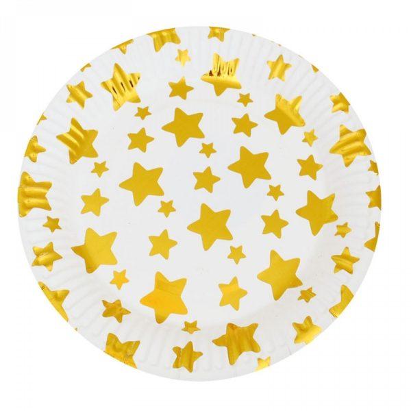 """Парти чинии """" Звезди """" - 10 бр."""