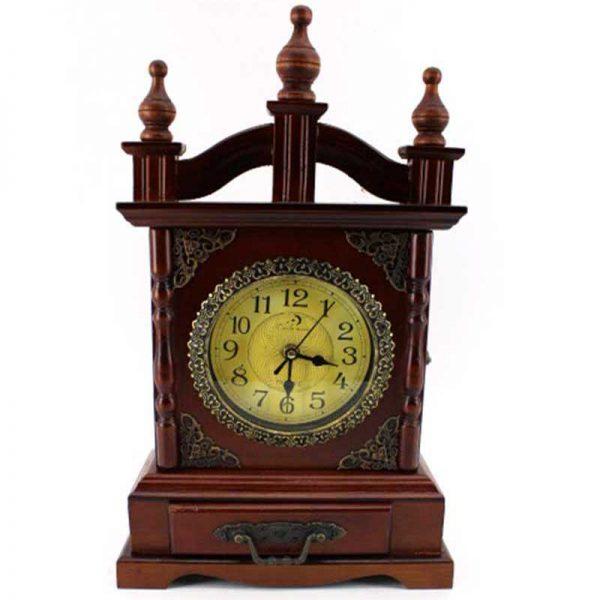 Настолен дървен часовник 2 в 1