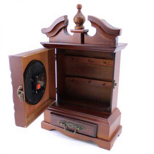 Настолен дървен часовник/кутия за ключове
