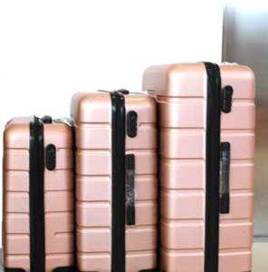 Куфар PVC в цвят златиста пудра