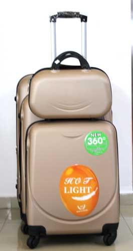 """Куфар PVC 360 `  в цвят """"Капучино"""""""