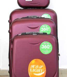 Куфар PVC 360 `  в цвят тъмно розово