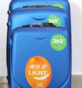 Куфар PVC 360 `  в цвят светло синьо