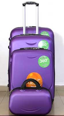 Куфар PVC 360 `  в нежно лилаво