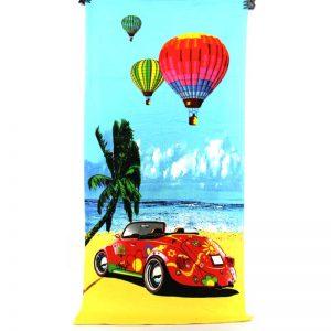 """Плажна хавлия """"Кола на брега"""""""
