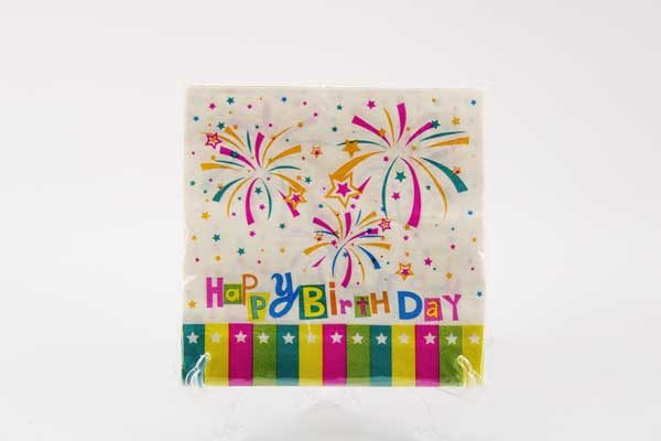 """Парти салфетки """" Happy Birthday """" /8836/"""