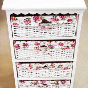 Шкаф с 4 чекмеджета- изкуствен ратан