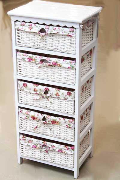 Шкаф с 5 чекмеджета- изкуствен ратан