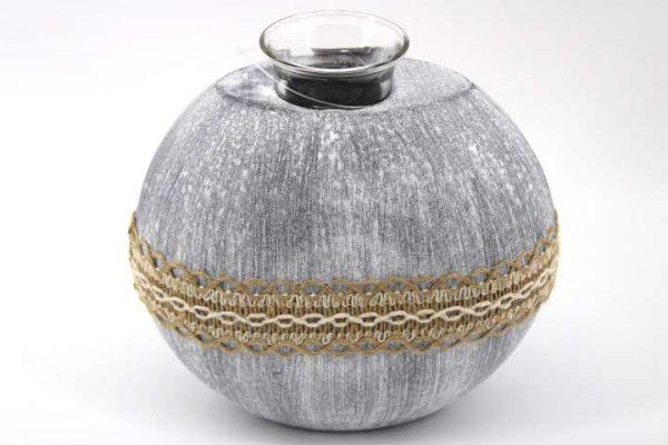 Декоративен дървен свещник - овал