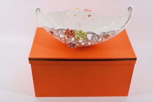 Фруктиера- бонбониера с 3D цветчета -  гондола