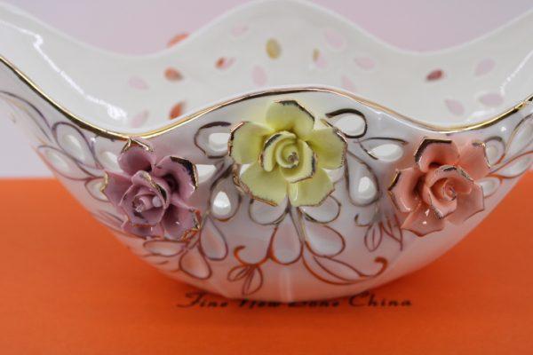 Фруктиера- бонбониера с 3D цветчета