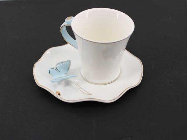 Комплект за кафе с 3D пеперуди