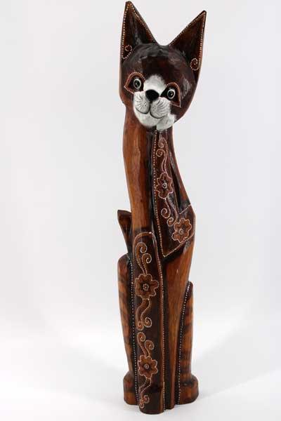 Дървена котка - 60 см.