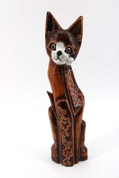 Дървена котка - 50 см.
