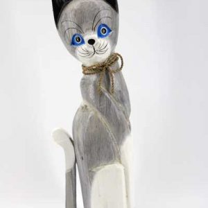 Дървена котка - 50 см