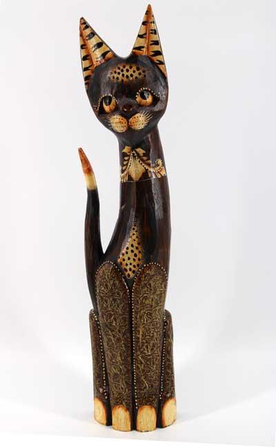 Дървена котка - 57 см