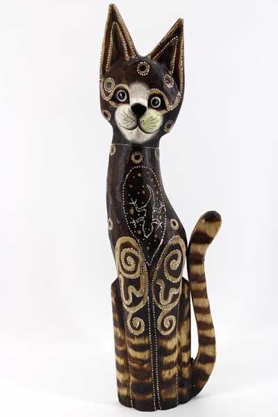 Дървена котка - 50 см. /12191/