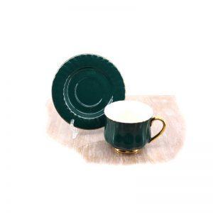 Сет за чай от 12 части - зелен гланц