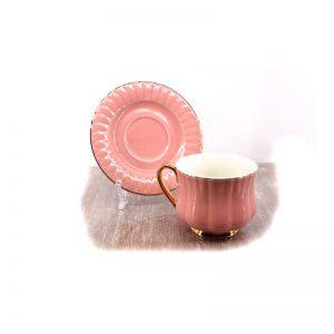 Сет за чай от 12 части - розов гланц