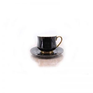 Сет за чай от 12 части - черен гланц