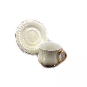 Сет за чай от 12 части - бял гланц