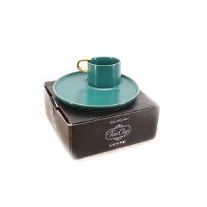 Сет за кафе от 2 части - зелено