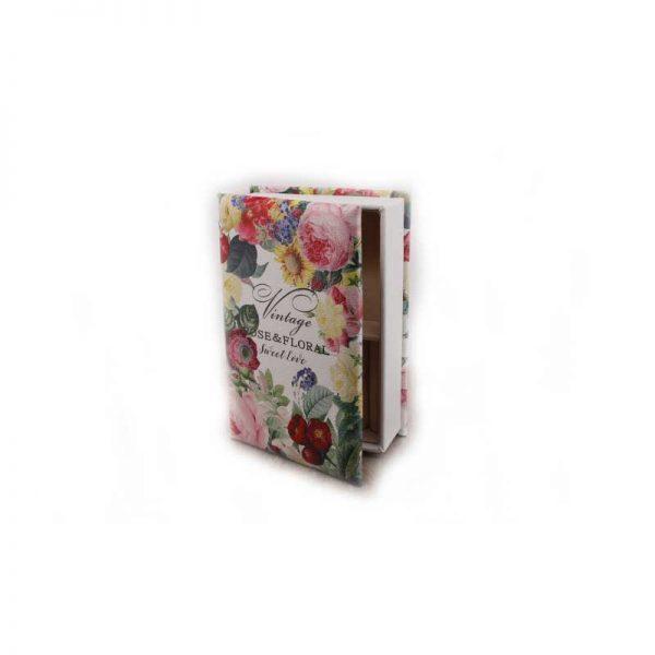 """Кутия за бижута """" Цветя """" - книга"""
