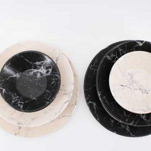 Серия порцелан -Черен и Бял мрамор