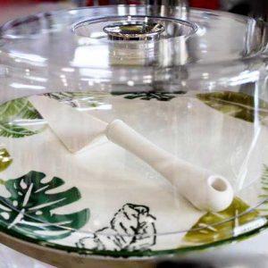 Чиния с капак за торта - Листо