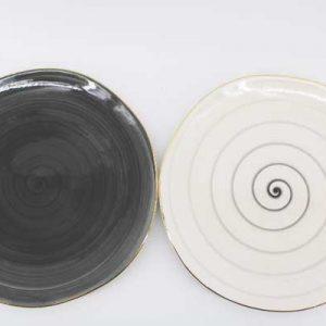 Серия порцелан -Черно и Бяло гланц