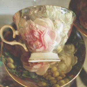 "Сет за кафе "" Цветя и грозде"""