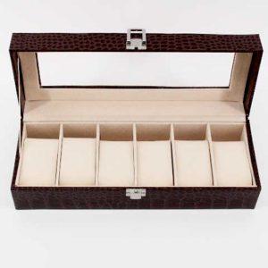 Луксозна кутия за часовници - махагон