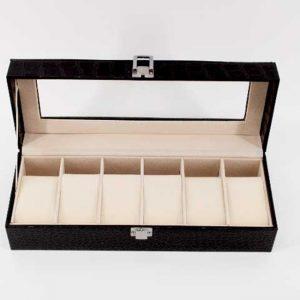 Луксозна кутия за часовници - черно