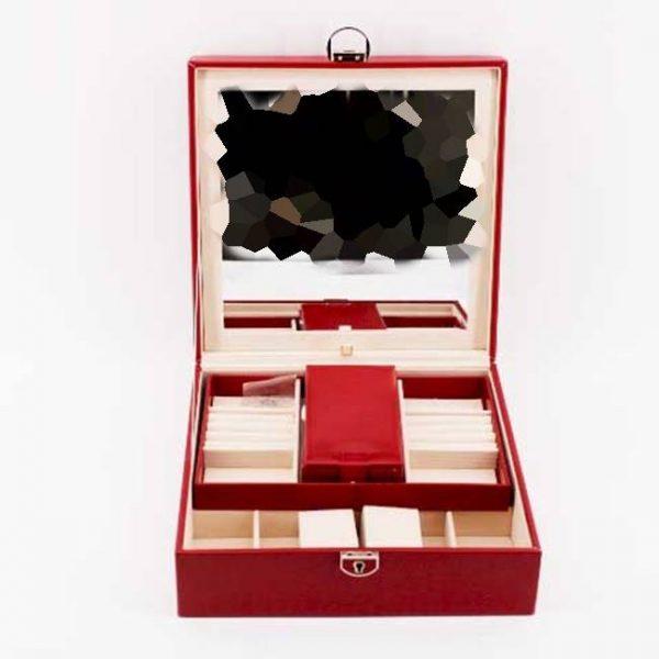 Кутия за часовници и аксесоари - многофункционална (червено)