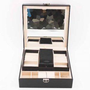 Кутия за часовници и аксесоари - многофункционална (черен)