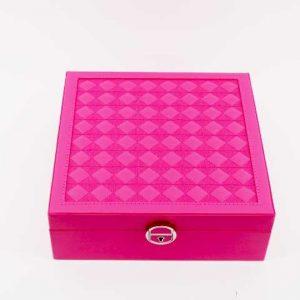 Кутия за часовници и аксесоари - многофункционална (циклама)